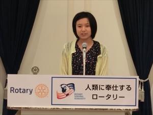 福光さんのスピーチ