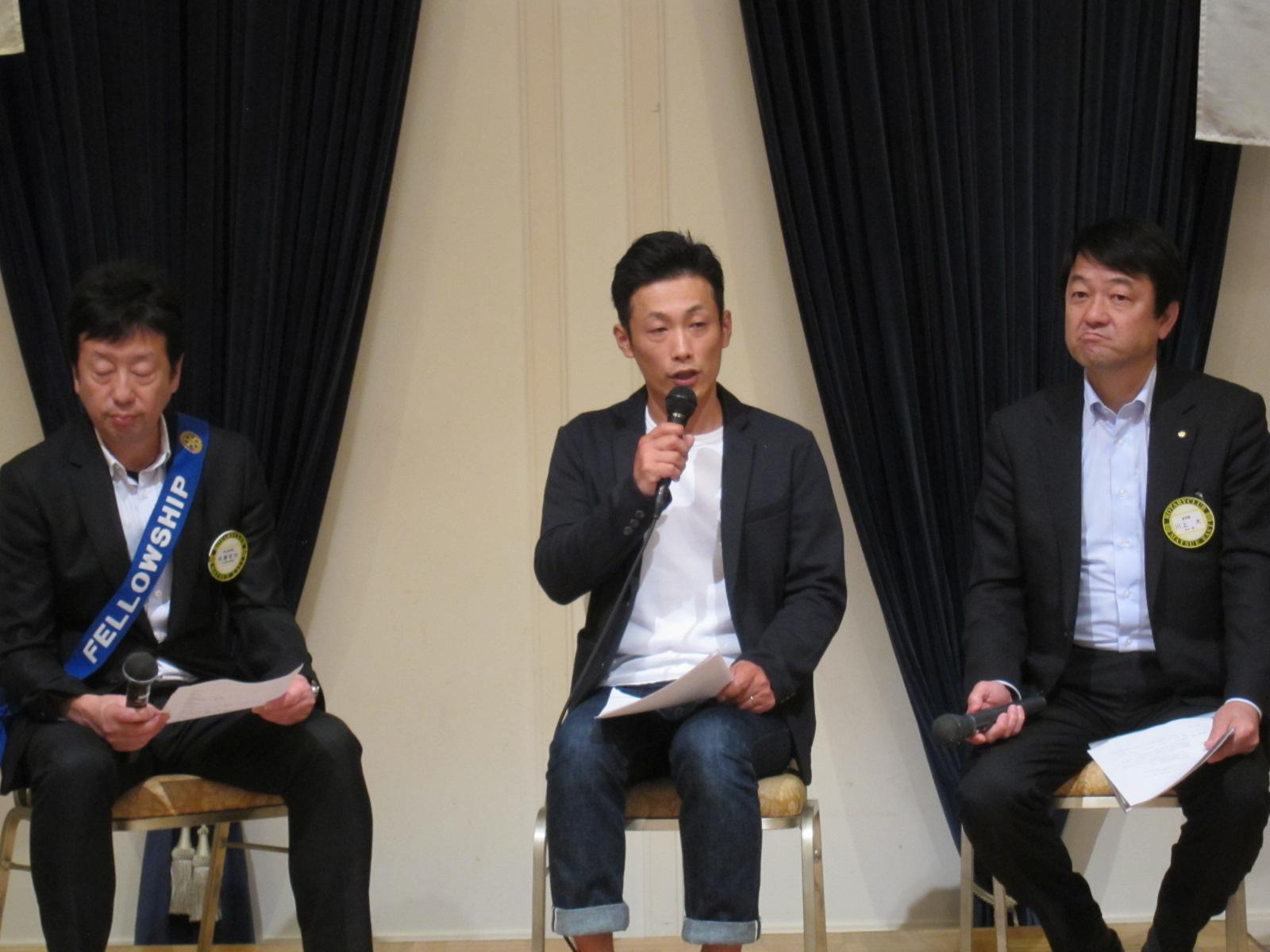 松崎さんが活動について語る